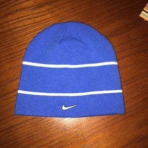 Blue and white Nike Ski cap
